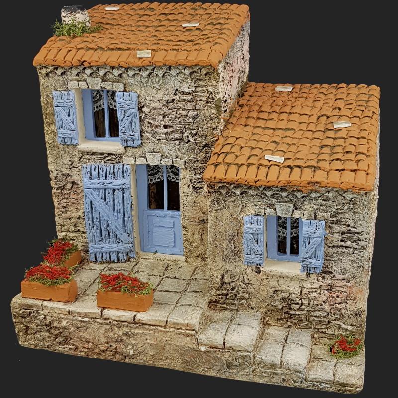 l 39 atelier de fanny santons d cors de cr che maison de village 4 provence. Black Bedroom Furniture Sets. Home Design Ideas