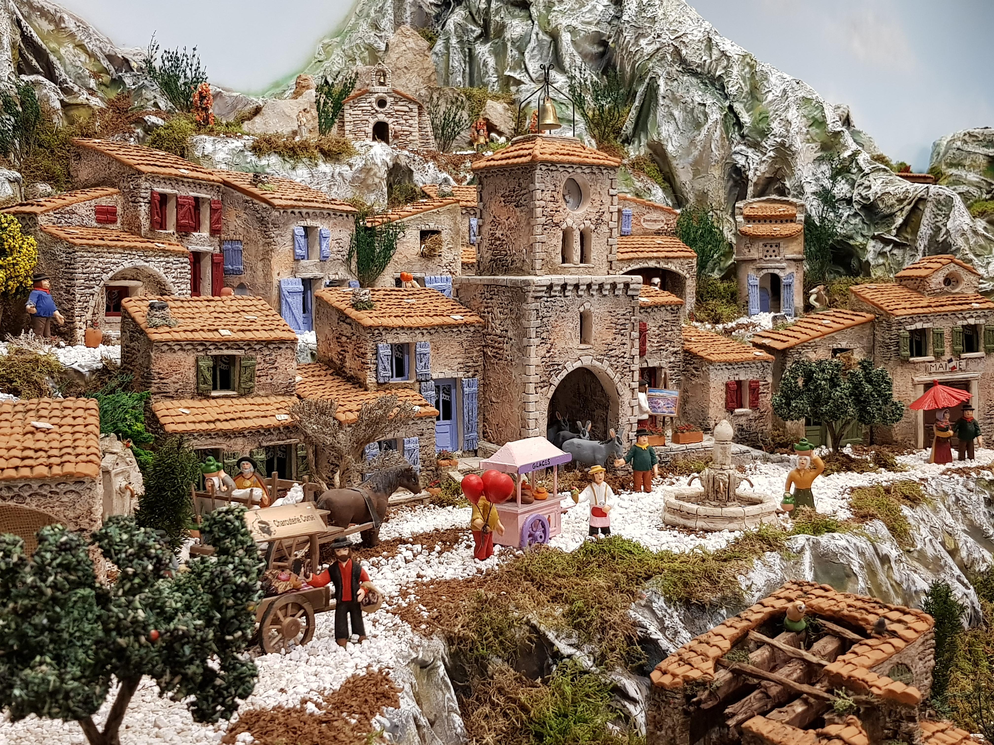 L 39 histoire des santons de provence l 39 atelier de fanny santons et d cors de cr che aubagne - Decor creche de noel provencal ...