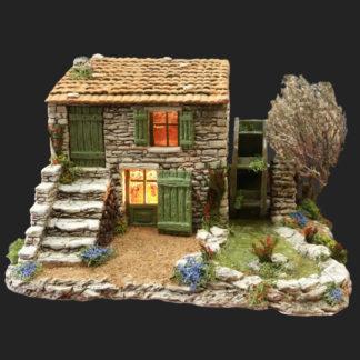 Atelier de Fanny moulin à eau décors de crèche