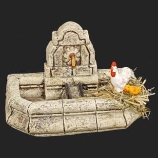 décors de crèche – Santons – fontaine de Fanny avec poule – Aubagne.jpg